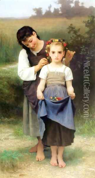 Parure des Champs [The Jewel of the Fields] Oil Painting - William-Adolphe Bouguereau