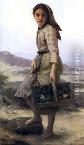 The Fisher Oil Painting - William-Adolphe Bouguereau