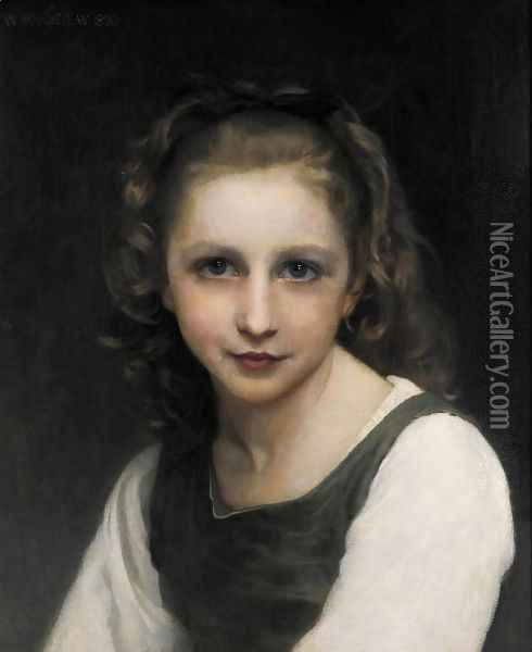 Portrait of a Young Girl 2 Oil Painting - William-Adolphe Bouguereau