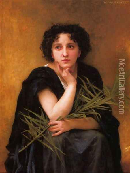 Reflection Oil Painting - William-Adolphe Bouguereau