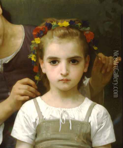 Parure des Champs [detail, right] [The Jewel of the Fields] Oil Painting - William-Adolphe Bouguereau