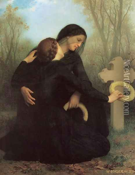 The Day of the Dead Oil Painting - William-Adolphe Bouguereau