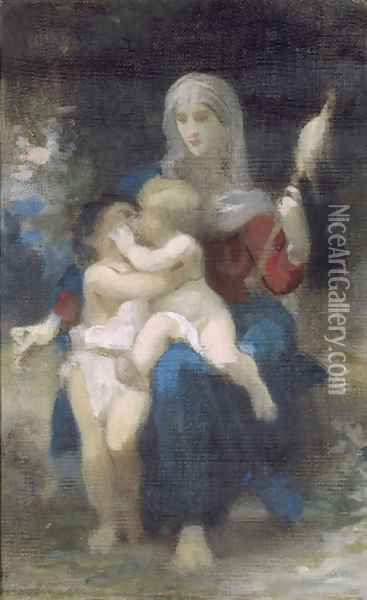A Study for Sainte Famille Oil Painting - William-Adolphe Bouguereau