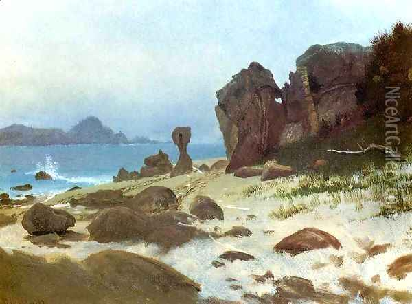 Bay Of Monterey Oil Painting - Albert Bierstadt