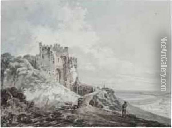 The Constable's Tower, Dover Castle Oil Painting - Joseph Mallord William Turner