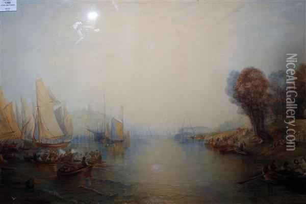 The Water Frolic Oil Painting - Joseph Mallord William Turner