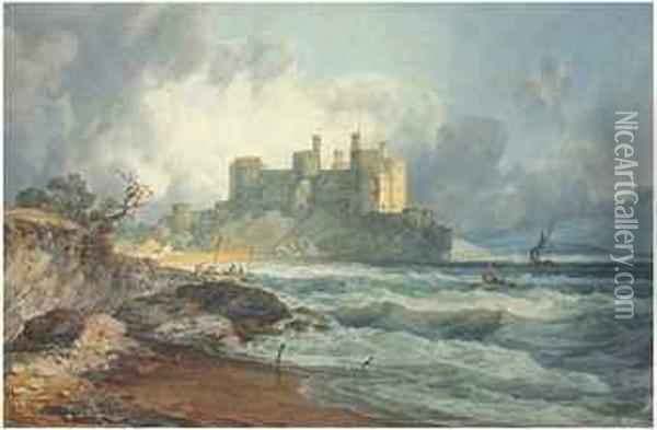 Conway Castle, North Wales Oil Painting - Joseph Mallord William Turner