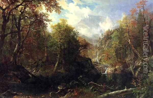 The Emerald Pool Oil Painting - Albert Bierstadt