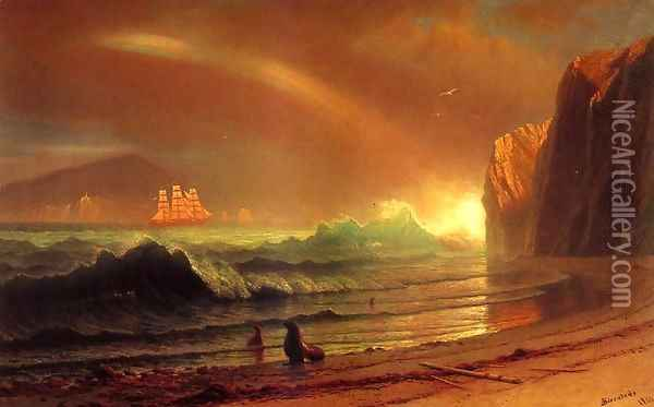 The Golden Gate Oil Painting - Albert Bierstadt