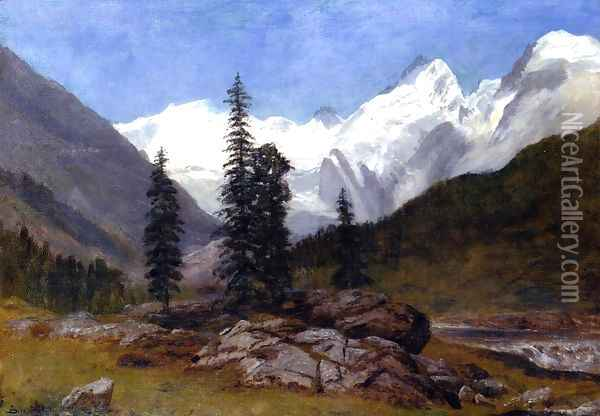 Rocky Mountain Oil Painting - Albert Bierstadt
