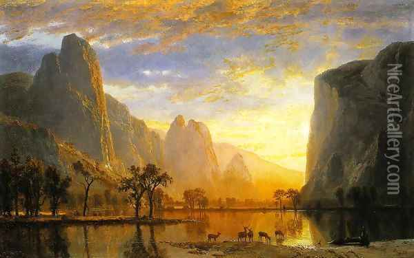 Valley of the Yosemite 1864 Oil Painting - Albert Bierstadt