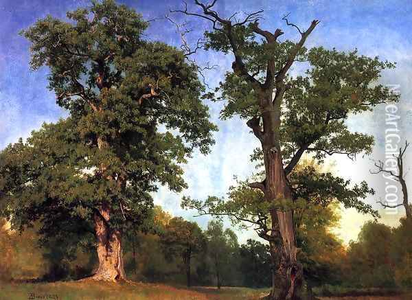 Pioneers Of The Woods Oil Painting - Albert Bierstadt