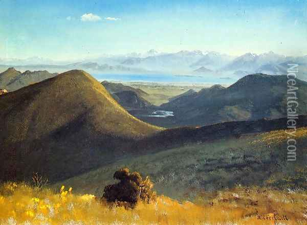 Mono-Lake, Sierra Nevada, California, 1872 Oil Painting - Albert Bierstadt