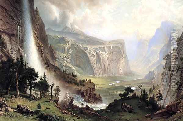 The Domes Of The Yosemite Oil Painting - Albert Bierstadt