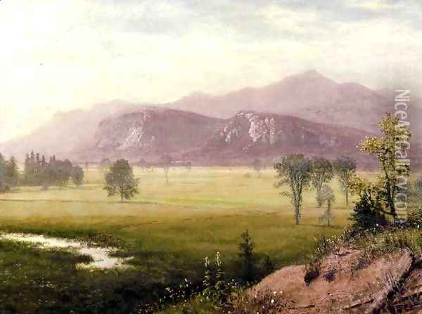 Conway Meadows New Hampshire Oil Painting - Albert Bierstadt
