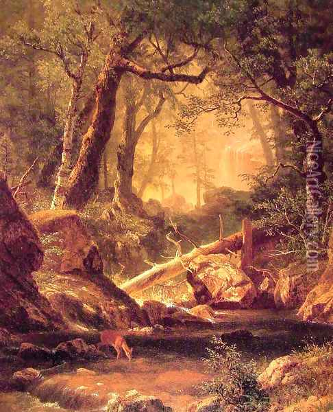White Mountains New Hampshire Oil Painting - Albert Bierstadt