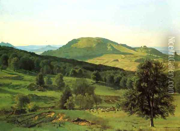 Hill And Dale Oil Painting - Albert Bierstadt
