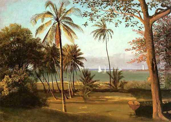 Florida Scene Oil Painting - Albert Bierstadt