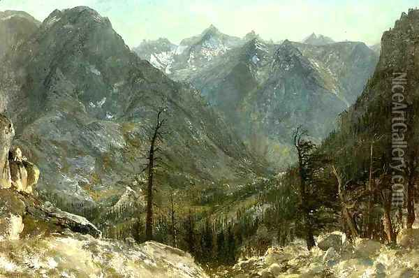 The Sierra Nevadas Oil Painting - Albert Bierstadt