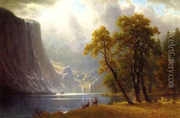 Yosemite Valley II Oil Painting - Albert Bierstadt