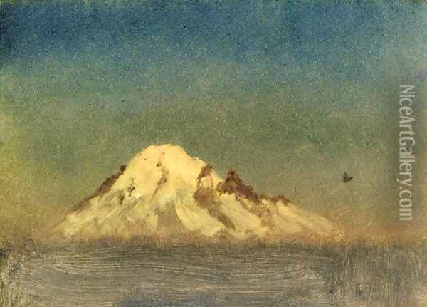 Snow Capped Moutain Oil Painting - Albert Bierstadt