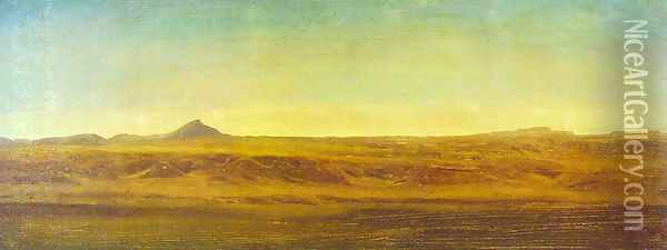 On The Plains Oil Painting - Albert Bierstadt