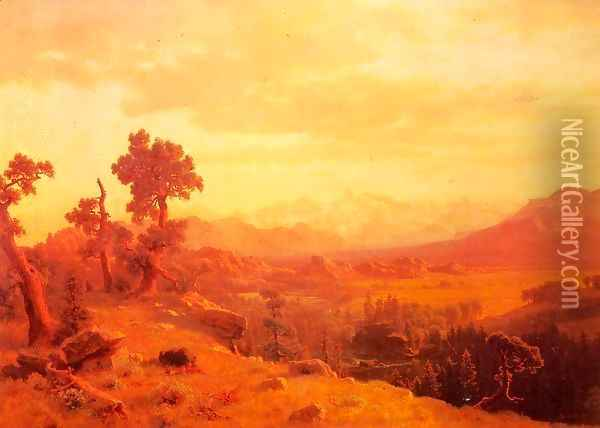 Wind River Country I Oil Painting - Albert Bierstadt