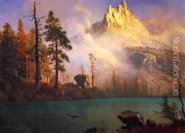 Mountain Lake III Oil Painting - Albert Bierstadt