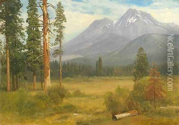 Mt. Shasta, California Oil Painting - Albert Bierstadt