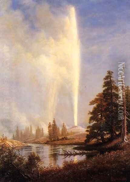 Old Faithful I Oil Painting - Albert Bierstadt