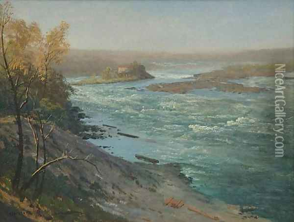 Upper Rapids, Niagara Falls Oil Painting - Albert Bierstadt