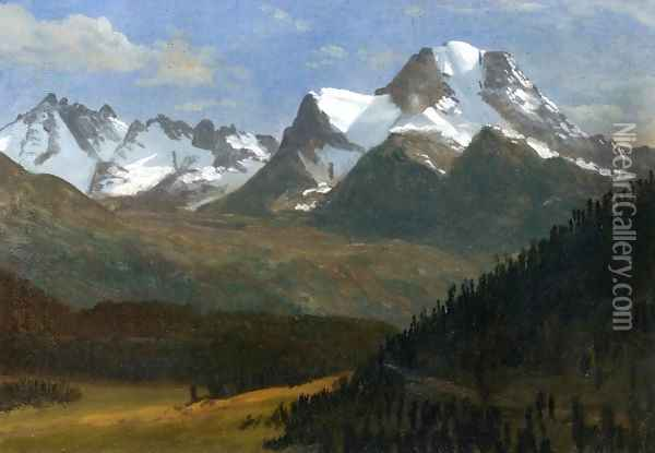Mountain Landscape III Oil Painting - Albert Bierstadt