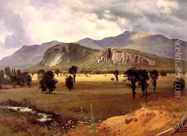 Moat Mountain Intervale, New Hampshire Oil Painting - Albert Bierstadt