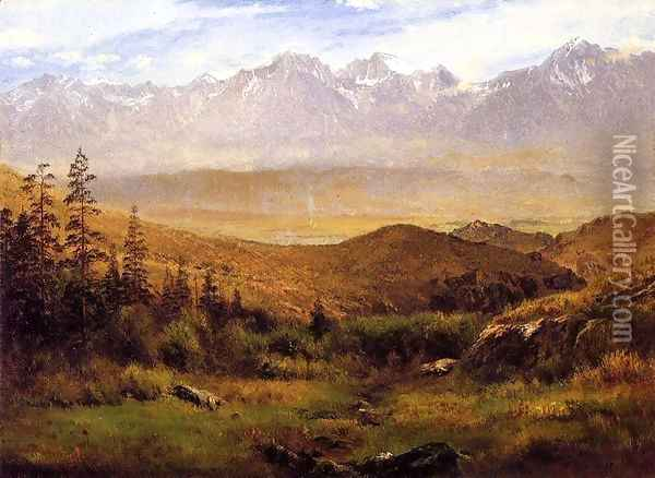 In the Foothills of the Mountains Oil Painting - Albert Bierstadt