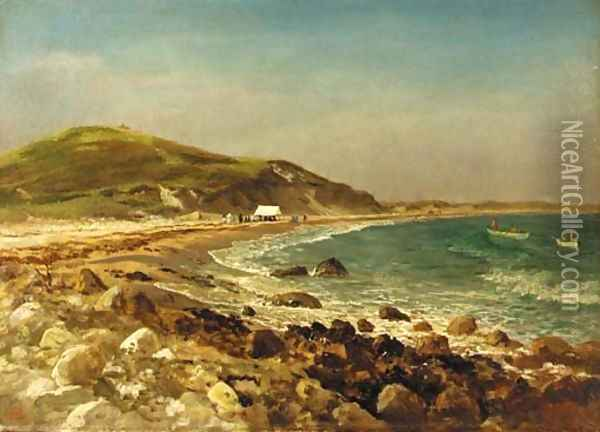 Coastal Scene Oil Painting - Albert Bierstadt