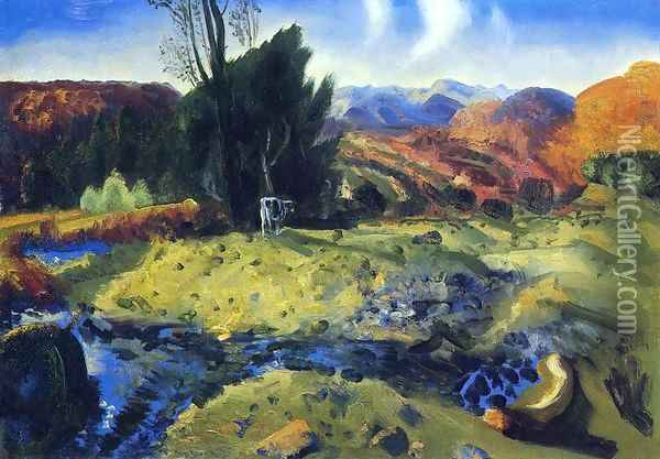 Autumn Brook Oil Painting - George Wesley Bellows