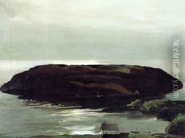 An Island In The Sea Oil Painting - George Wesley Bellows
