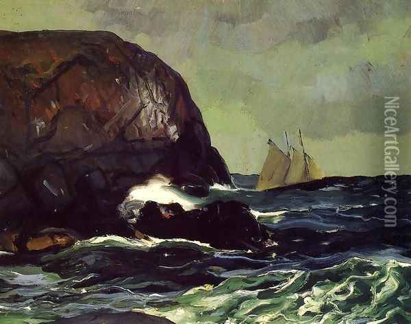 Beating Out To Sea Oil Painting - George Wesley Bellows