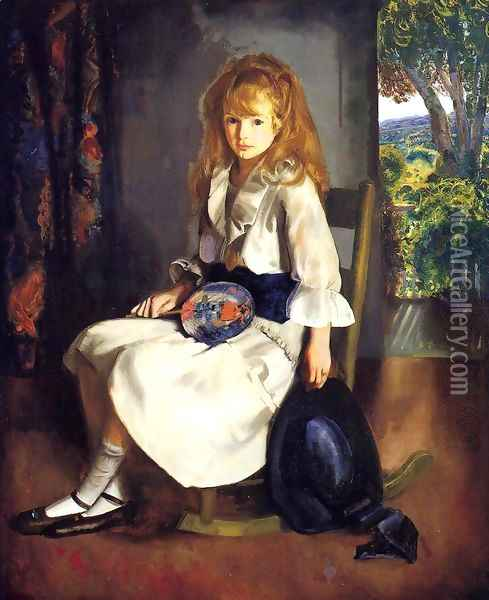 Anne In White Oil Painting - George Wesley Bellows