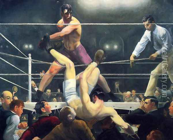 Dempsey And Firpo Aka Brodies Revenge Oil Painting - George Wesley Bellows