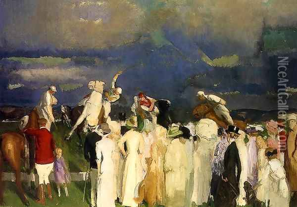 Polo Crowd Oil Painting - George Wesley Bellows