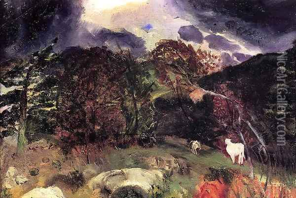 A Wild Place Oil Painting - George Wesley Bellows