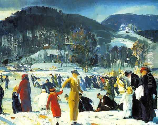 Love of Winter 1914 Oil Painting - George Wesley Bellows