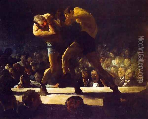 Club Night (or Stag Night at Sharkey's) Oil Painting - George Wesley Bellows