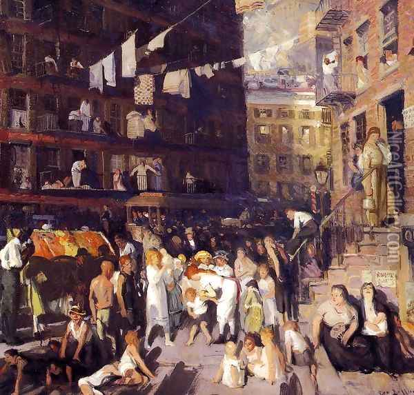 Cliff Dwellers Oil Painting - George Wesley Bellows