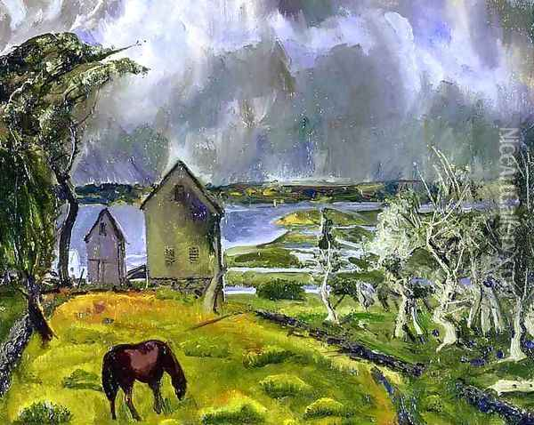 Dead Orchard Oil Painting - George Wesley Bellows