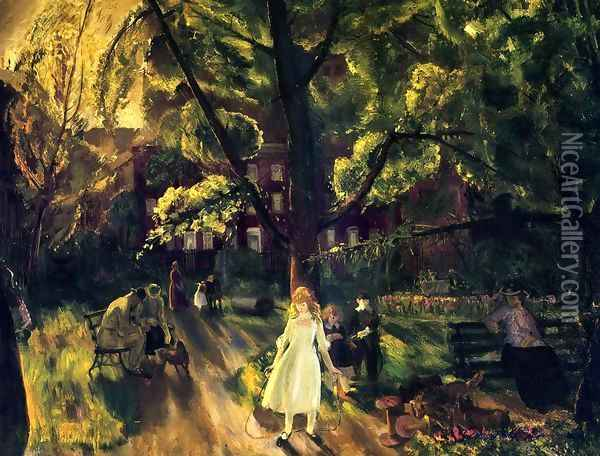 Gramercy Park Oil Painting - George Wesley Bellows