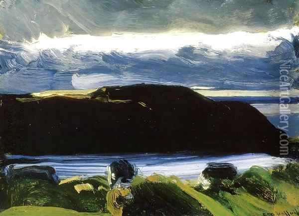 Breaking Sky Monhegan Oil Painting - George Wesley Bellows