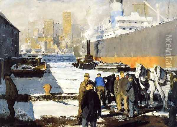 Men Of The Docks Oil Painting - George Wesley Bellows