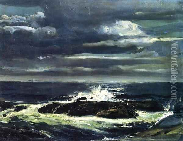 The Sea Oil Painting - George Wesley Bellows